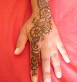 henné indien main